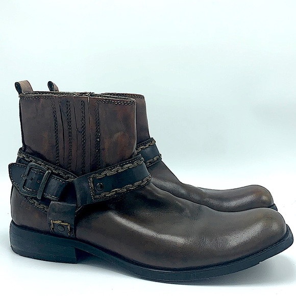Bed Stu men's brown leather boots size 10